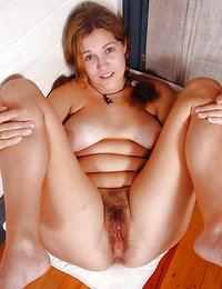 lesbian seduction with bright red bushy pussy porn