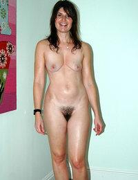 bushy pussy spread legs